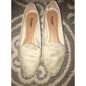 Nude pointy espadrilles
